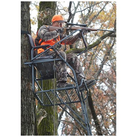 comfort zone ladder stand guide gear 18 jumbo ladder tree stand 177432 ladder