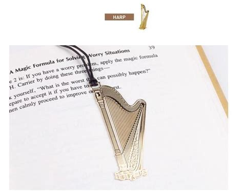 printable guitar bookmarks 2015 new creative exquisite gold plated metal lanyard