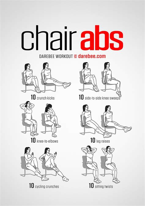 office workouts chair exercises  abs cardio