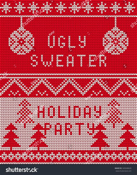 christmas pattern website vector illustration ugly sweater party seamless stock