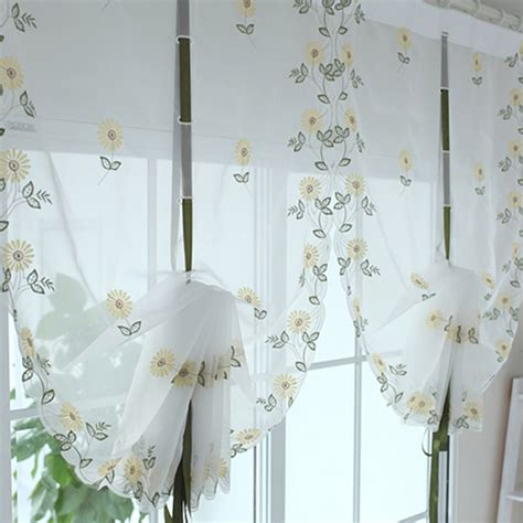 Kitchen Curtain Fabric For Sale Sale Floral Tulle For Windows In Sheer Curtains For Living Room Kitchen Finished Shade