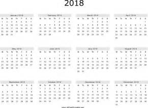 Calendar 2018 Printable Yearly Yearly Calendar 2018 Free Premium Templates