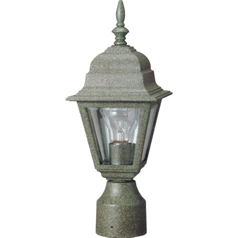 Green Outdoor Lights Volume Lighting 1 Light Verde Green Outdoor Post Light V9832 14 The Home Depot