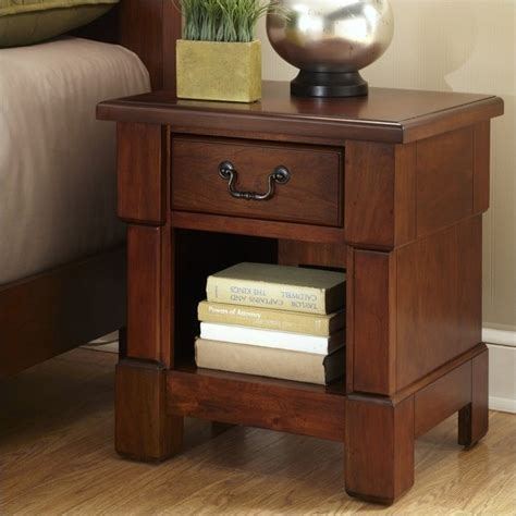Bedroom L Stands by Stand In Rustic Cherry 5520 42