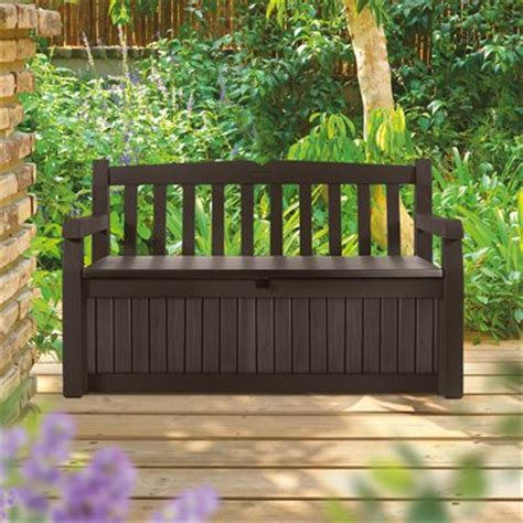 keter 186300 70 gallon garden bench box keter eden 70 gal garden bench box atg stores