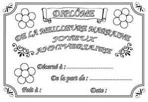 Coloriage Diplome Anniversaire Parrain L