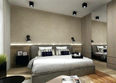 schlafzimmer ideen mit halbhö wand bett mit regal stauraum ablage nachtle led schlafzimmer