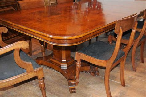 Regency Dining Table And Chairs Walnut Regency Dining Table Chairs Set Suite
