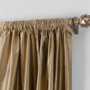 ethan allen drapes ethan allen bronze satin dupioni rod pocket panel polyvore