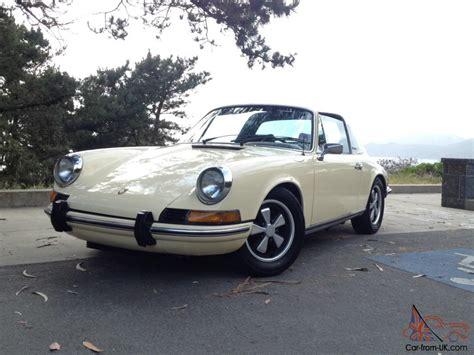 porsche targa white 1973 porsche 911 911t targa t e ivory white factory a c