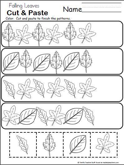 object pattern worksheet free fall pattern worksheet for kindergarten students