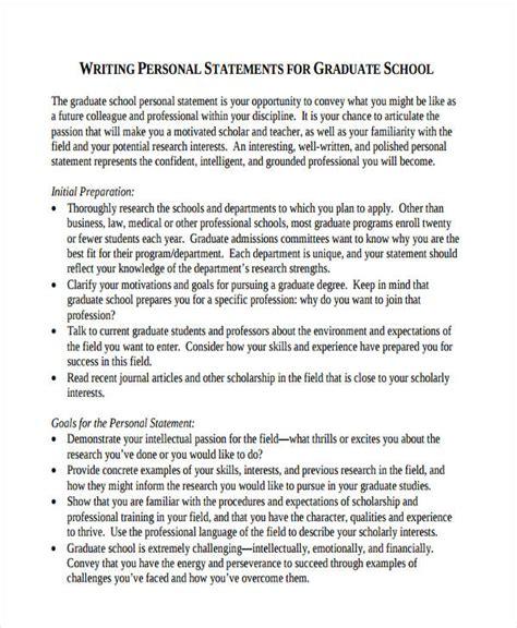5 graduate school personal statement exles sles