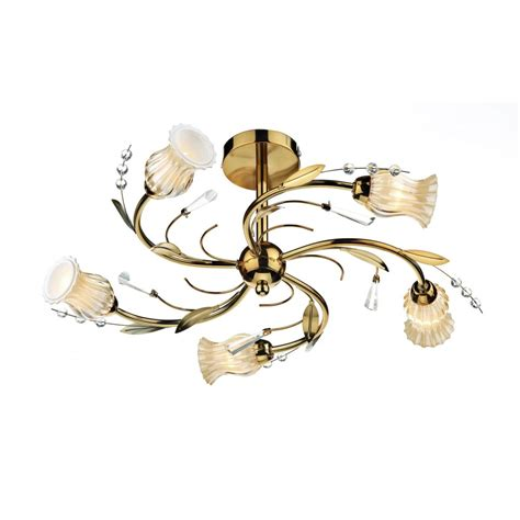 gold evie ceiling light evi0535 5 light ceiling light