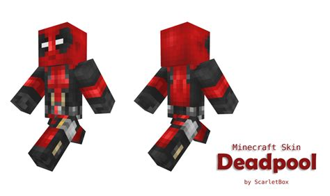Minecraft Papercraft Deadpool - minecraft extralife skin pack skins mapping and