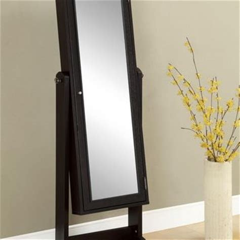 Free Standing Length Mirror Jewelry Armoire by A M B Furniture Design Wall Mirrors From Amb Furniture