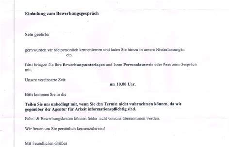 Vorschuss Schreiben Muster Einladung Zum Bewerbungsgespr 228 Ch Bei Zaf Erwerbslosen Forum Deutschland Elo Forum