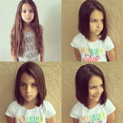 haircuts for young women with alopecia little girl lob so excited to donate to pantene beautiful