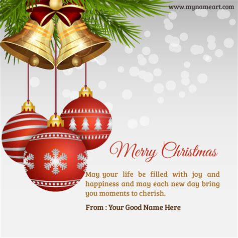 christmas ornaments  bell image    wishes greeting card