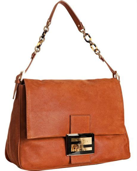 Fendi Mamma Shoulder Bag fendi burnt orange laminated leather mamma shoulder bag in