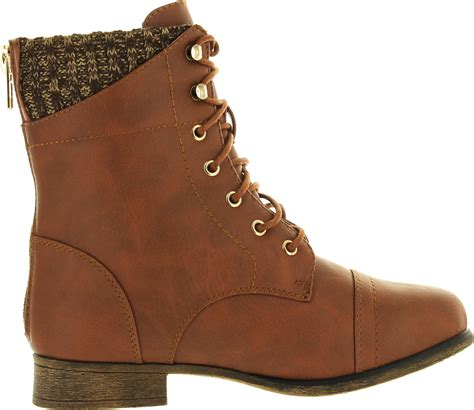 sweater ankle boots top moda womens sweater cuff lace up zipper high