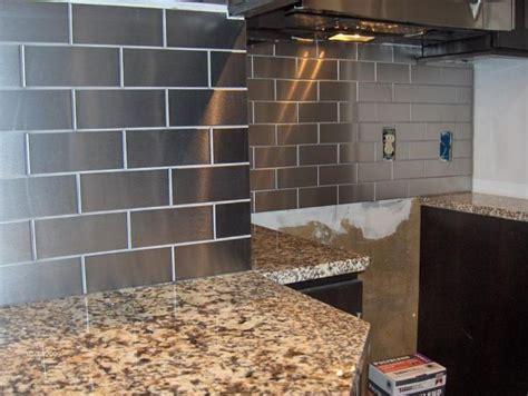 stainless steel subway tile backsplash   home pinterest subway tile backsplash