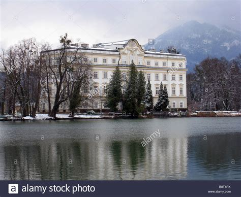 where is the sound of music house von trapp family house from the sound of music in salzburg austria stock photo