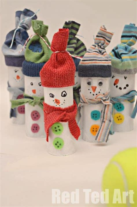 Snowman Toilet Paper Roll Craft - 12 tp roll crafts for ted s