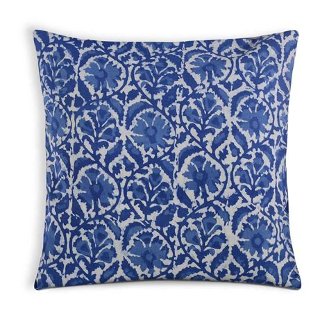 Soft Pillow Covers by Indigo And White Soft Cotton Pillow Cover Desicrafts