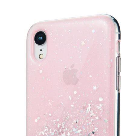 switcheasy starfield iphone xr glitter pink