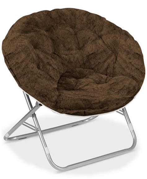 Saucer Chair For Adults by Arron Faux Fur Saucer Chair Ship Furniture