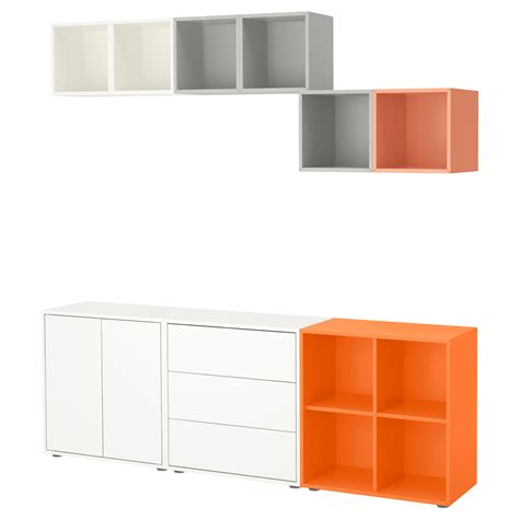 ikea eket cabinet eket cabinet combination with feet multicolour 210x35x180