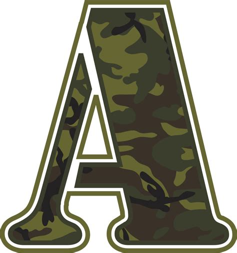 Camo Wall Stickers 7 best images of printable camo letters green camo