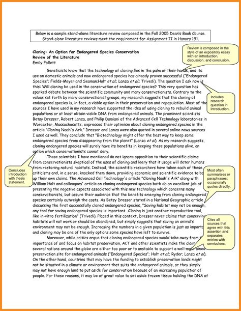 how to write a literature review layout