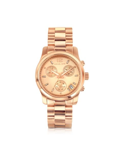 michael kors runway gold plated stainless steel