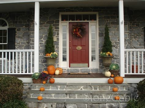 Decorative Door Stop by 22 Fall Front Porch Ideas Veranda Home Stories A To Z