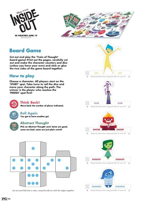 inside out crafts amp games printables from disney s pixar