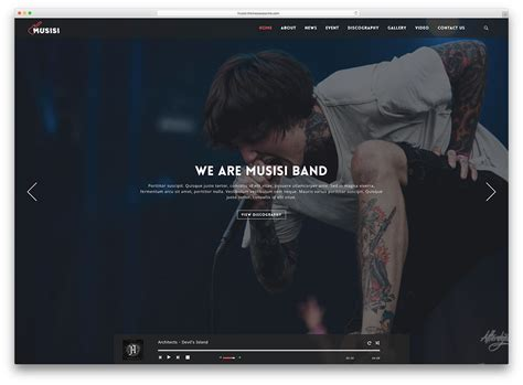 25 Of The Best Wordpress Themes For Musicians 2018 Colorlib Best Website Templates For Musicians