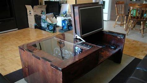 Coffee Table Computer Desk 13 Elegant And Simple Diy Computer Desk Diy And Crafts
