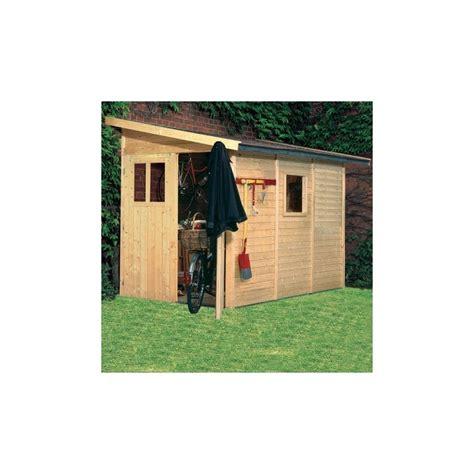 Garage Toit Terrasse 3531 by Abri De Jardin Adoss 233 En Bois Certifi 233 4 85m 178 Juist 3 Karibu