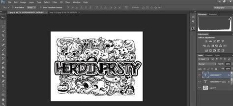cara membuat doodle name photoshop cara mudah membuat doodle nama di photoshop herdinprsty