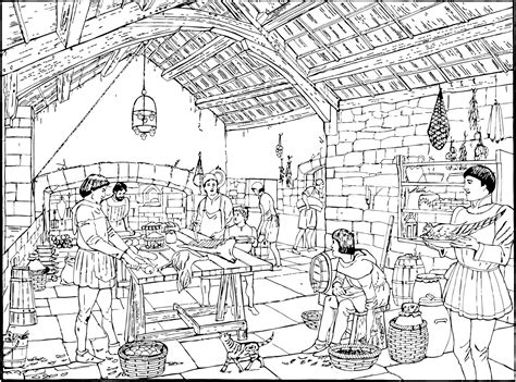 medieval coloring pages for adults free coloring pages of castle kitchen