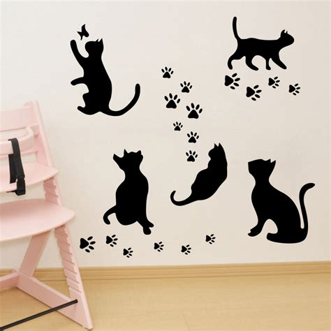 cat wall stickers popular cat wall hanging buy cheap cat wall hanging lots from china cat wall hanging suppliers