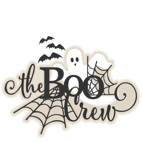 Free Software Mailed To Me At Home halloween title the boo crew svg scrapbook cut file cute