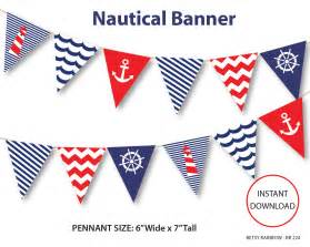 Nautical Nautical Banner Printable Banner Nautical Diy By