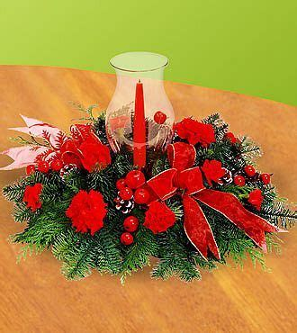 ftd crimson glow centerpiece christmas holiday flowers
