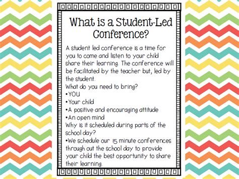 Parent Letter Student Led Conferences Hoppin Student Led Conferences