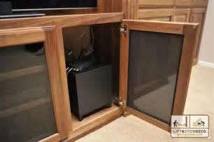 arizona custom entertainment centers lift stor beds
