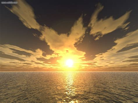 3d sky 3d landscape ocean sky 3d sunset picture nr 7168