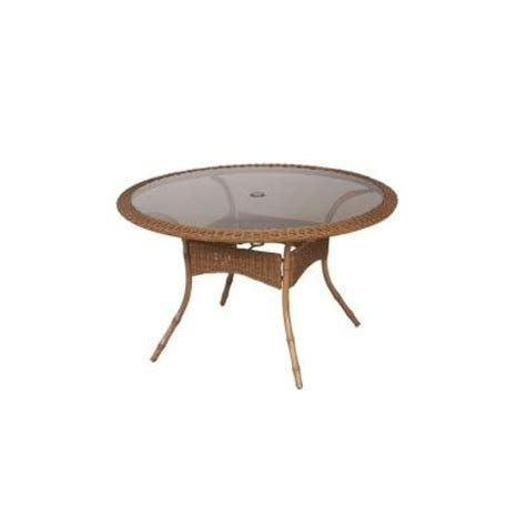 48 patio table hton bay clairborne 48 in patio dining table dy11079 48 the home depot