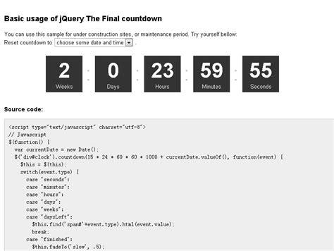 date format javascript minutes final countdown simple date countdown plugin free